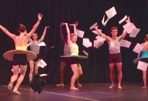 Verb Ballets tossing scripts in NUTS video