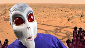 Alien on Mars
